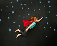 Superhero girl Royalty Free Stock Image