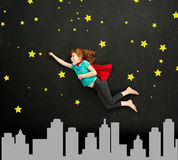 Superhero girl stock images