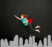 Superhero girl Stock Images