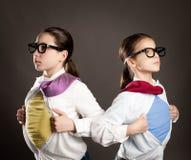 Superhero girls Stock Images