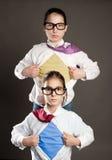 Superhero girls Stock Image