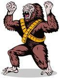 Superhero Gorilla. Vector art of a super hero isolated on white Stock Photo