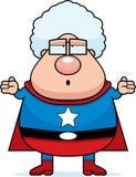 Superhero Grandma Confused stock illustration