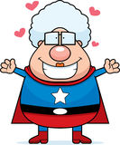 Superhero Grandma Hug Stock Image