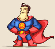 Superhero with hands on waist Royalty Free Stock Image