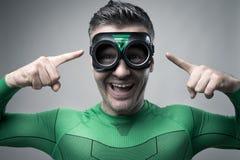 Superhero having a great idea Stock Photography