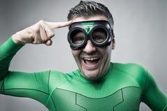 Superhero having a great idea Royalty Free Stock Photography