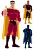 Superhero het Goedkeuren Royalty-vrije Stock Afbeeldingen