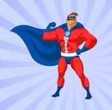 Superhero het vliegen stock illustratie