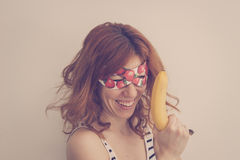 Superhero hipster girl Royalty Free Stock Photography