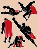 Superhero i handling 2 Royaltyfri Bild