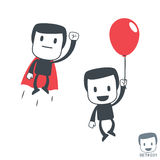 Superhero. Icon man. Set#031 Royalty Free Stock Image
