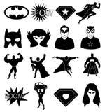 Superhero icons set Royalty Free Stock Images