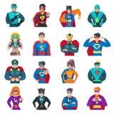 Superhero Icons Set Royalty Free Stock Photo