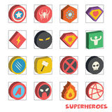 Superhero isometric logo Stock Photography
