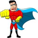 Superhero Karate Move Fist Isolated Stock Image