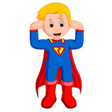 Superhero kid cartoon. Illustration of Superhero kid cartoon Royalty Free Stock Photography