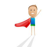 Superhero kid cartoon  Stock Photography