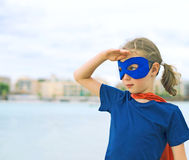 Superhero kid. Royalty Free Stock Image