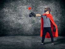 Superhero kid Stock Images