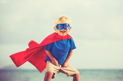 Superhero Kid Stock Photo