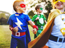 Superhero Kids Aspiration Imagination Playful Fun Concept. Superhero Kids Aspiration Imagination Playful Fun royalty free stock images