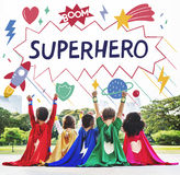 Superhero Kids Imagination Power Helper Concept royalty free stock photos