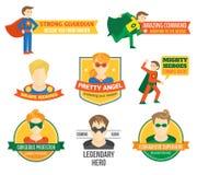 Superhero label Stock Image