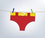 Superhero laundry day Stock Photography