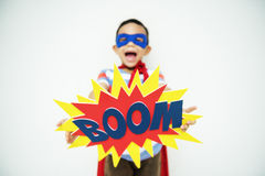 Superhero Little Boy Imagination Freedom Happiness Concept Royalty Free Stock Images