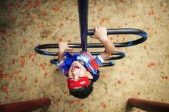 Superhero Little Boy Imagination Freedom Happiness Concept Stock Photography
