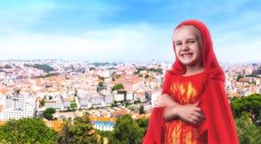 Superhero little girl Royalty Free Stock Images