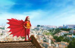 Superhero little girl Royalty Free Stock Photos
