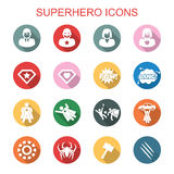 Superhero long shadow icons Stock Images