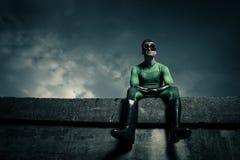 Superhero looking away Royalty Free Stock Photo