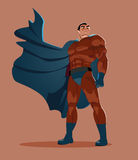 Superhero looks into the distance. Royalty Free Stock Photography