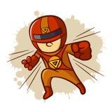 Superhero Magnet Boy Sticker Royalty Free Stock Image