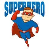 Superhero man Cartoon character Stock Image