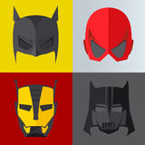 Superhero mask on colored backgrounds Royalty Free Stock Images