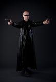 Superhero in matrix style royalty free stock photo