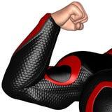 Superhero Muscle Power Isolated Illustration Stock Image