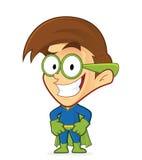 Superhero nerd geek vector illustratie