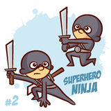 Superhero Ninja Boy Clipart Royaltyfria Bilder