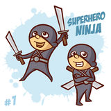 Superhero Ninja Boy Clipart Stock Foto's