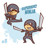 Superhero Ninja Boy Clipart Royalty Free Stock Image