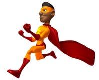 Superhero noir Images libres de droits