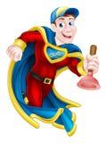 Superhero Plunger Man Stock Images