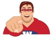 Superhero pointing royalty free illustration