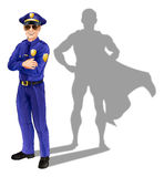 Superhero policeman Stock Images