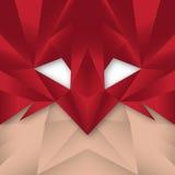 Superhero Polygonal Abstract Stock Image